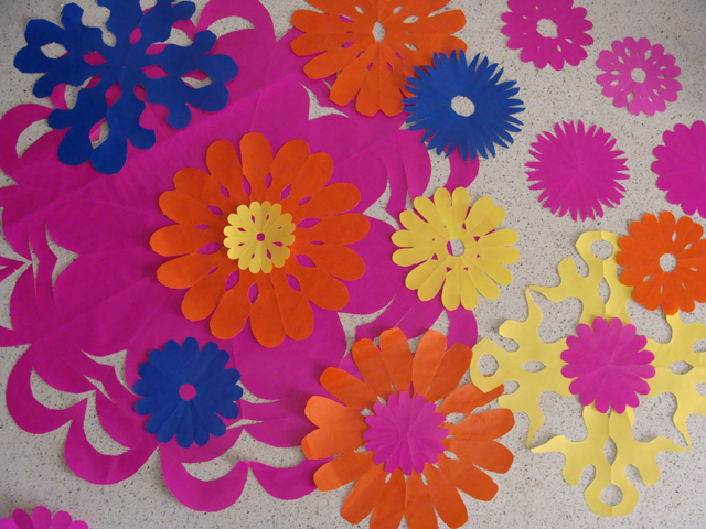 Quick party decorations paper flower silohuettes creative jewish mom paper flower cut outs blog mightylinksfo