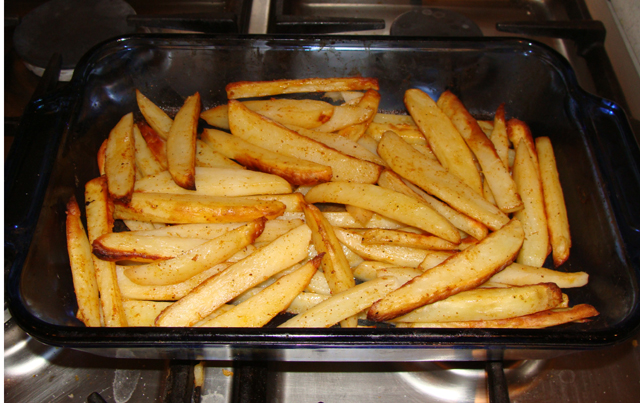 Oven Baked Fries After