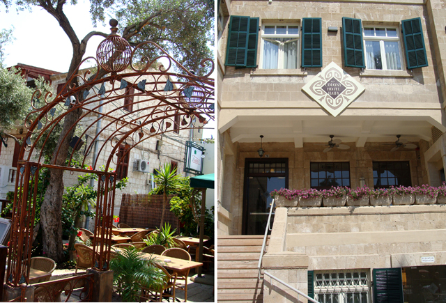 Haifa German Colony iron gate