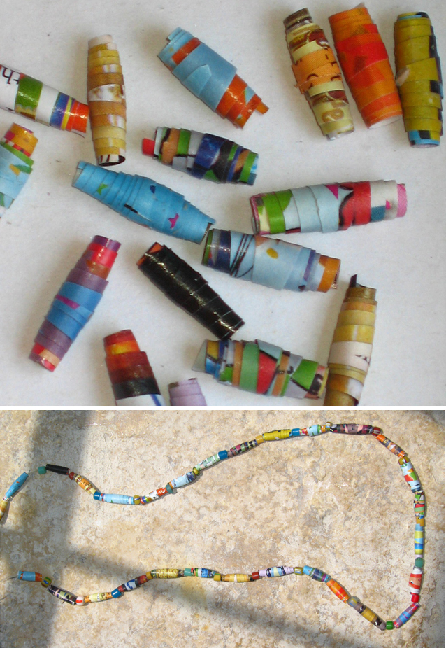 Recycled Magazine Crafts For Kids