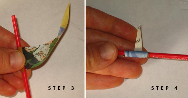 Paper Beads;step three-four copy