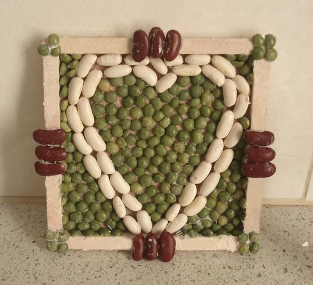 Bean Mosaic heart