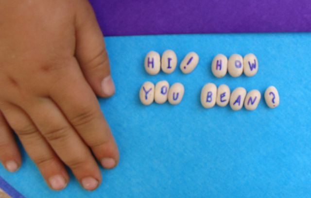 Beans and Hand Message