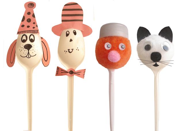 Plastic Spoon Puppets