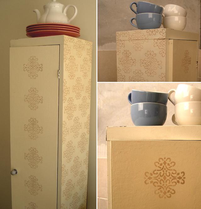 Stenciled metal cabinet images