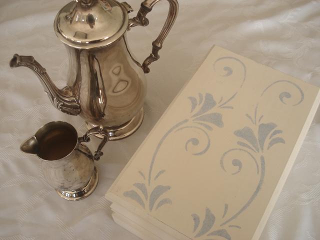 Stencilled Tea Box3