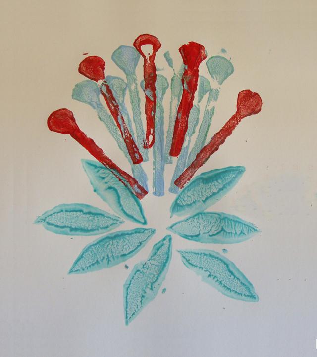 Styrofoam Printing Botanic