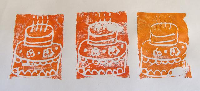 Styrofoam Printing BDay Cakes