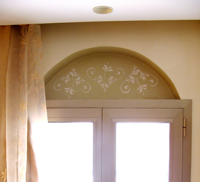Stencil With Joint Compound Arch
