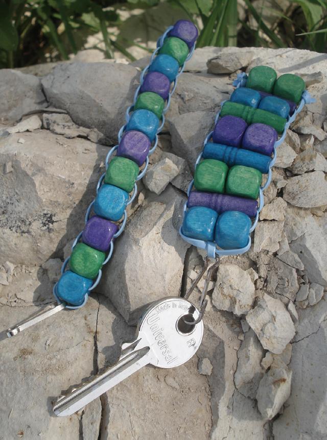 Beads and Lanyard Cord keychain