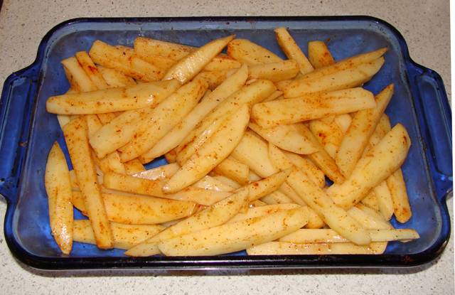 Oven Baked Fries 2nd Batch