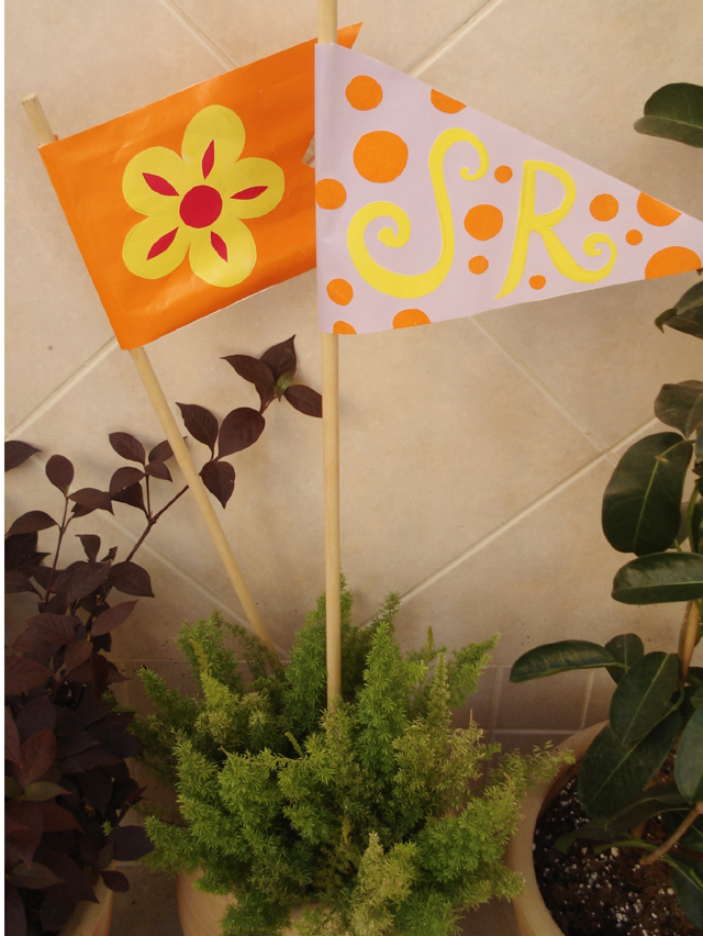 Garden Party Flags in Container