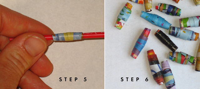 Paper Beads; step five copy