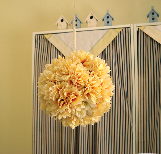 Floral pomander balls for diy wedding decorations or anytime floral pomander ball mightylinksfo
