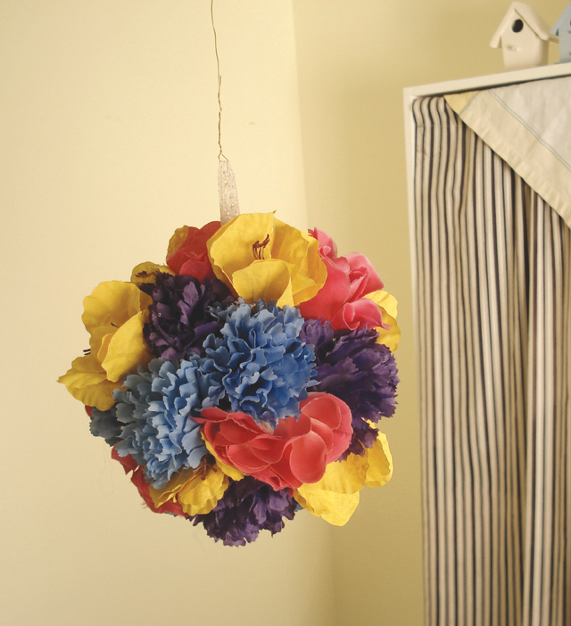 Floral Pomander Ball Mixed Colors