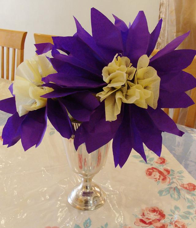 7th Birthday Tissue flowers