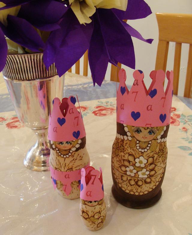 7th Birthday Crowns for matryushka