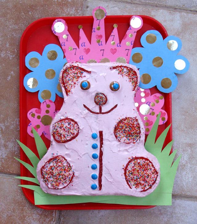 7th Birthday Bear Cake