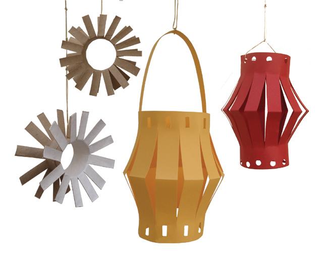 Succos Paper Lantern and tube flower