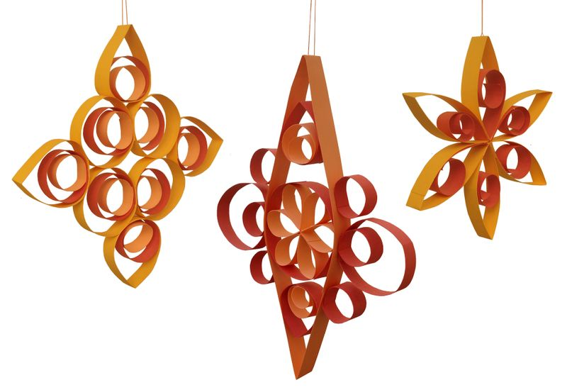 Succus Decorations From Paper Strips