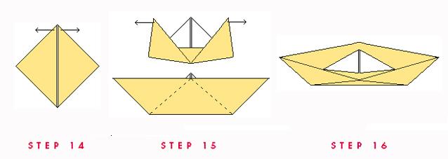Paper Boat Steps 14.15.16