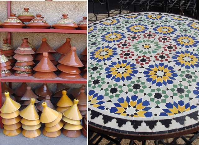 Moroccan Round Table + Tagines