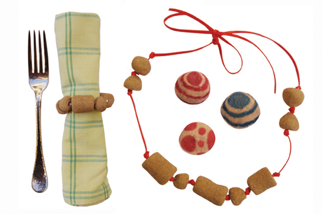 Sand Beads Napkin Ring+necklace