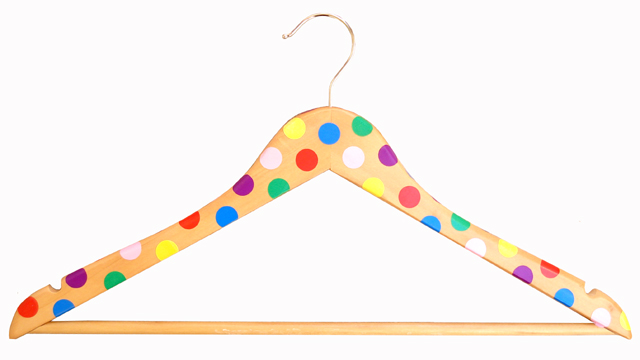 Hanger Decorated With Polka Dots
