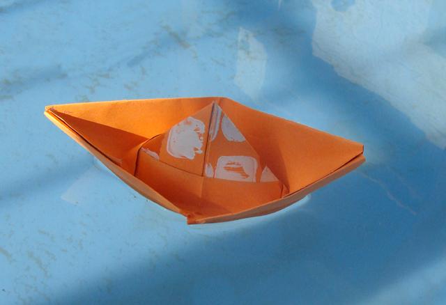 Folded Paper Boat