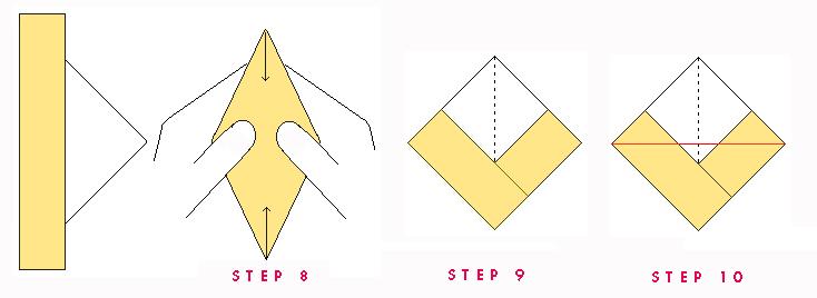Paper Boat Steps 8.9,10