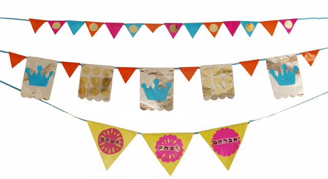 Succah Decorations - Bunting Banners