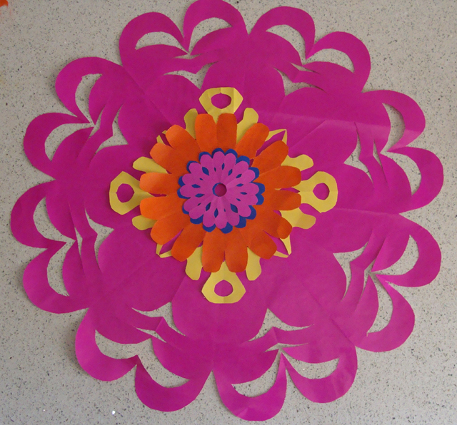 Paper Flowers Layered Blog