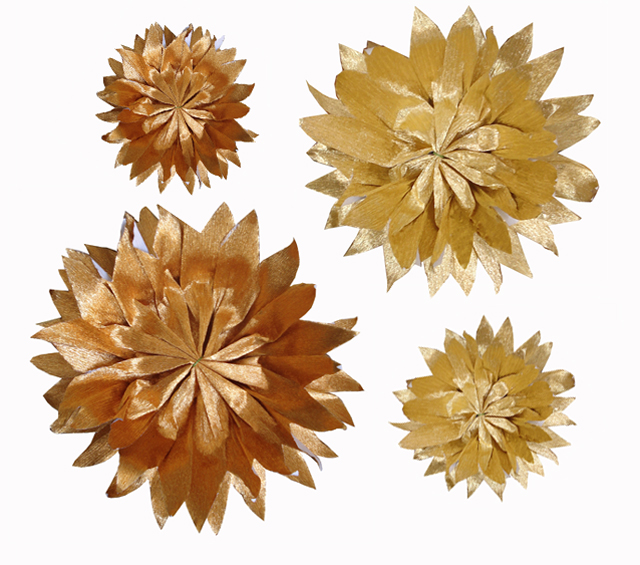 Crepe Paper Flowers— Metallic