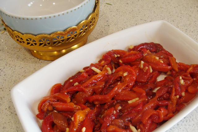Moroccan Roasted Red Pepper Salad