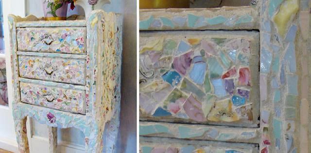 Rose House Mosaic Drawers Details