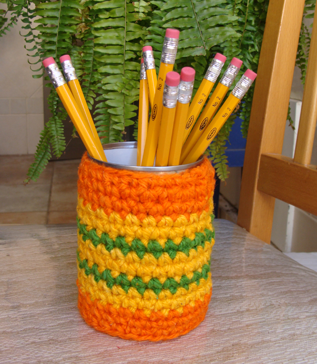 Crocheted Pencil Can