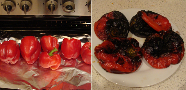 Moroccan Roasted Peppers Cooking