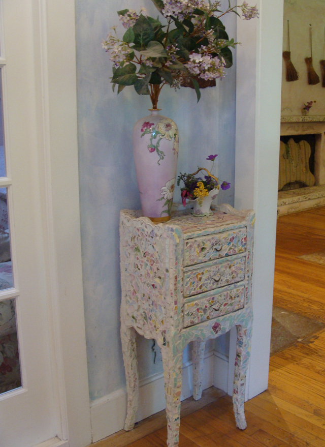 ... A Piece Of Furniture With Mosaic? Yes! Rose House Entry Mosaic Chest