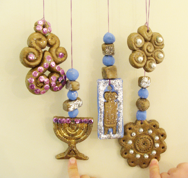 Chanukah Baker's Clay Ornaments