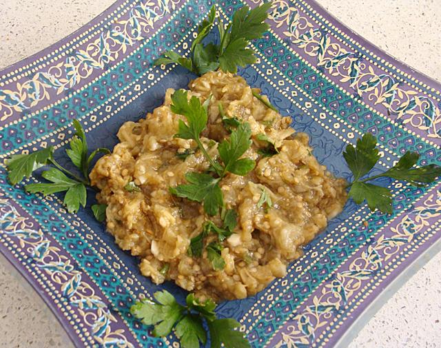 Moroccan Roasted Eggplant Salad