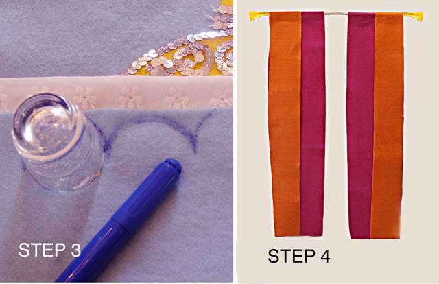 Felt Chanukah step 3-4