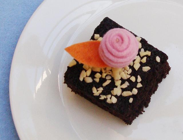 Felt Rosebud Cake Decoration