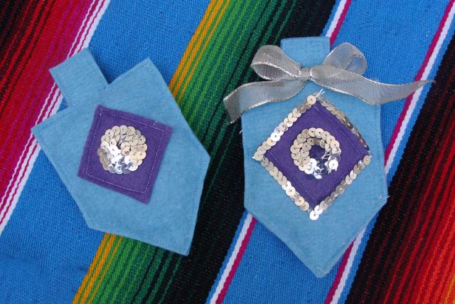 Felt Chanukah Dreidel Ornaments