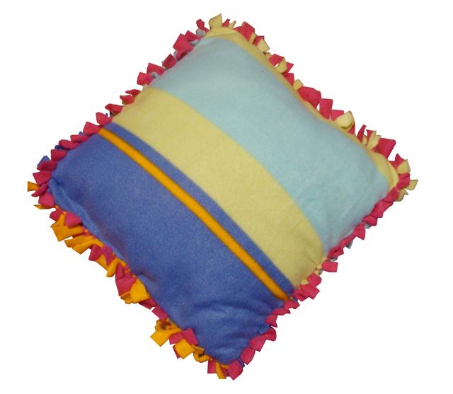 b18f7c52cb No-Sew Fleece  Cozy Ruffled-Border Pillow Cover! - creative jewish mom