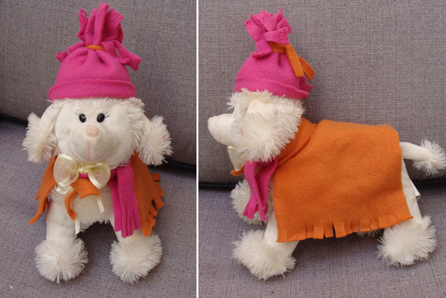 No Sew Fleece Doggie Outfit