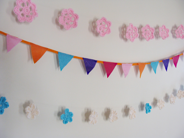 Crocheted Flowers Bunting