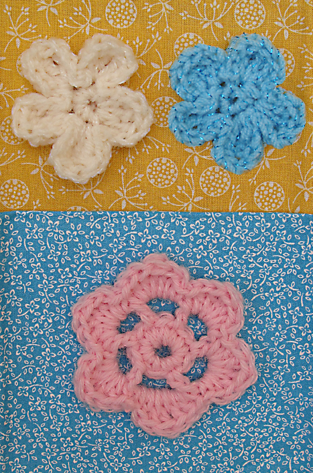 Crocheted Flowers Closeup