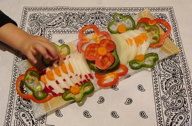 Vegetable Platter For Kids