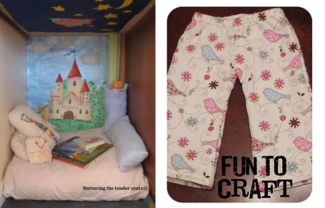 Sleeping nook and pajama pants