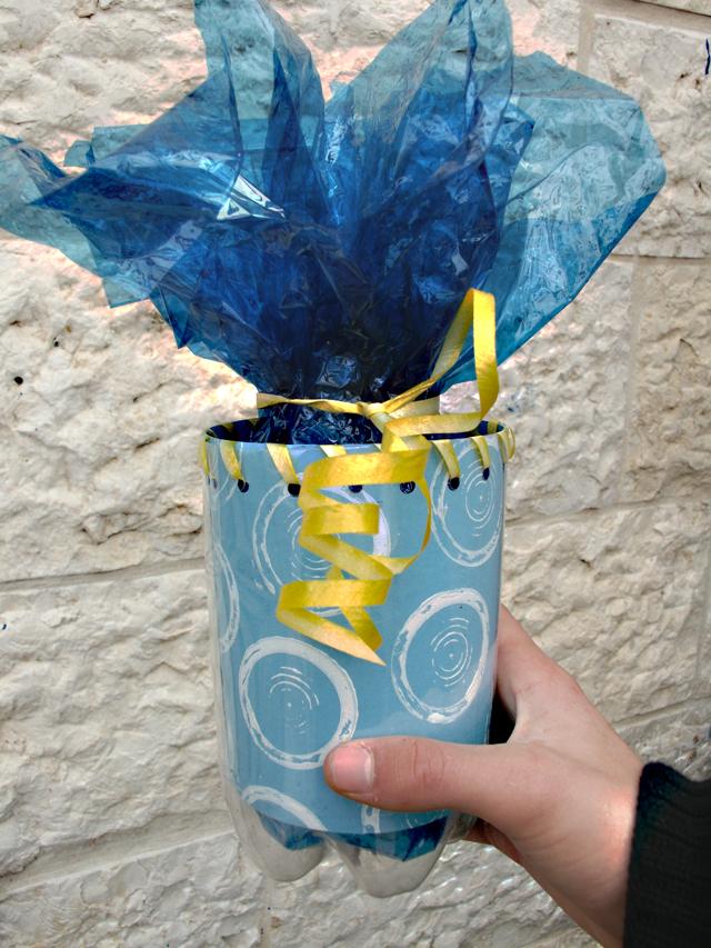 Purim Soda in Hand